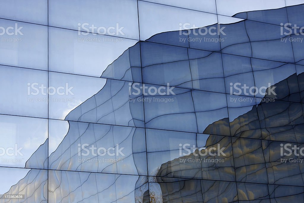 Reflection in office building # 4 royalty-free stock photo