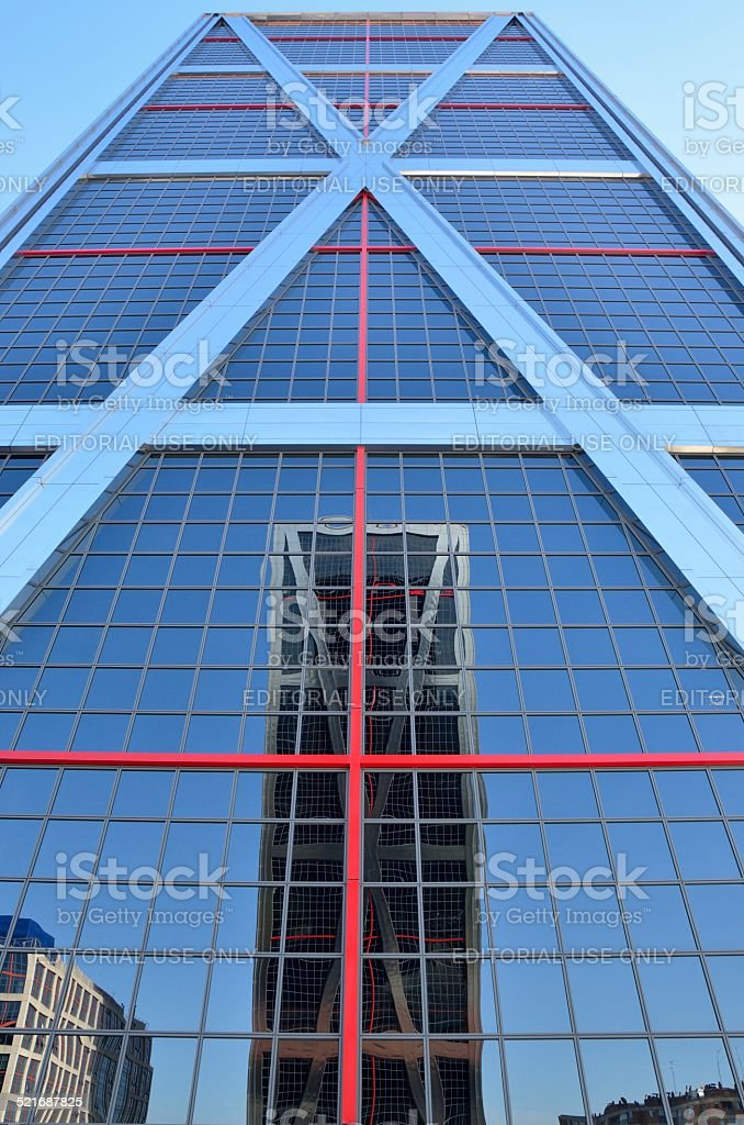 Reflection in skyscrapers stock photo