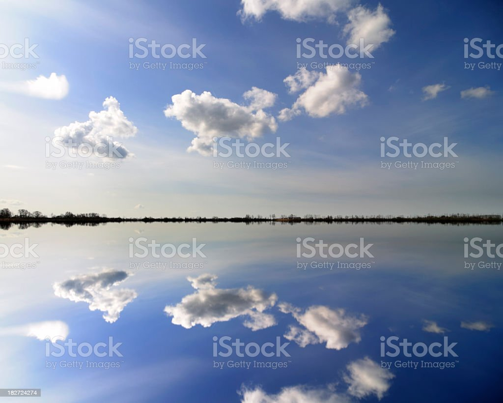 Reflection in the lake stock photo