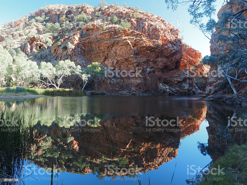 Reflection in the pond of Ellery Creek Big Hole stock photo