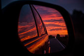 Reflection in the rear view mirror