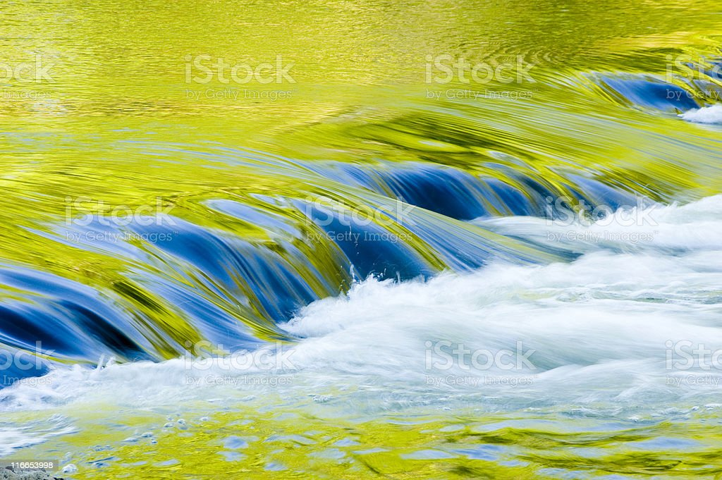 Reflection in the stream royalty-free stock photo