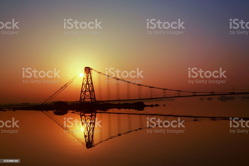 Reflection in the SunRise stock photo
