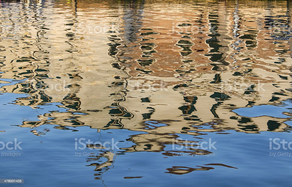 Reflection in the water royalty-free stock photo
