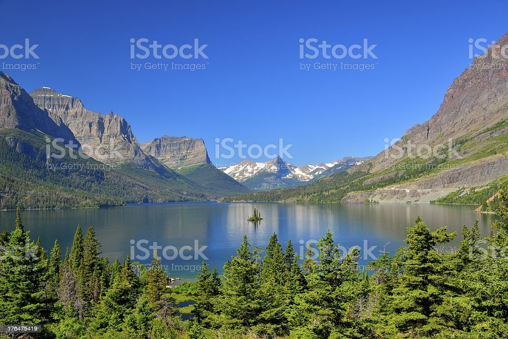 Reflection Lake with mountain background royalty-free stock photo
