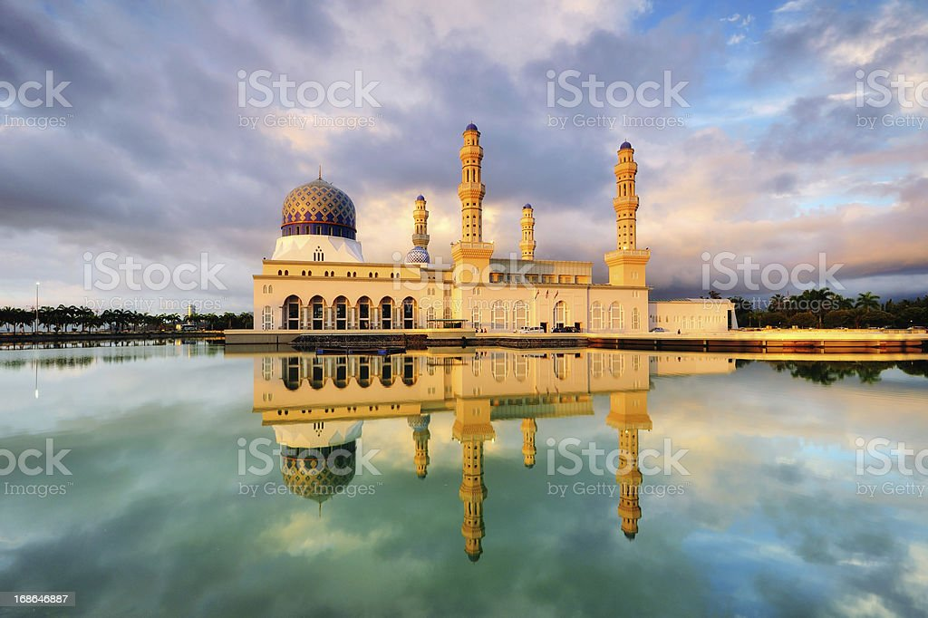 Reflection Of a Mosque royalty-free stock photo