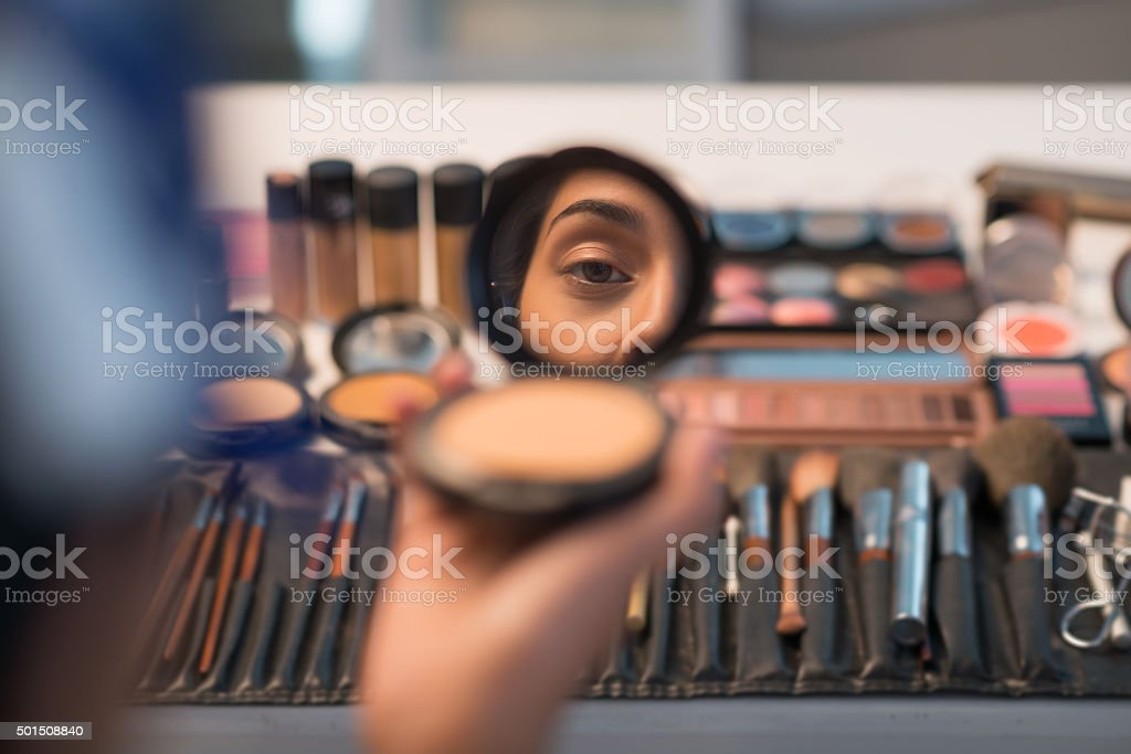 Reflection of beauty stock photo