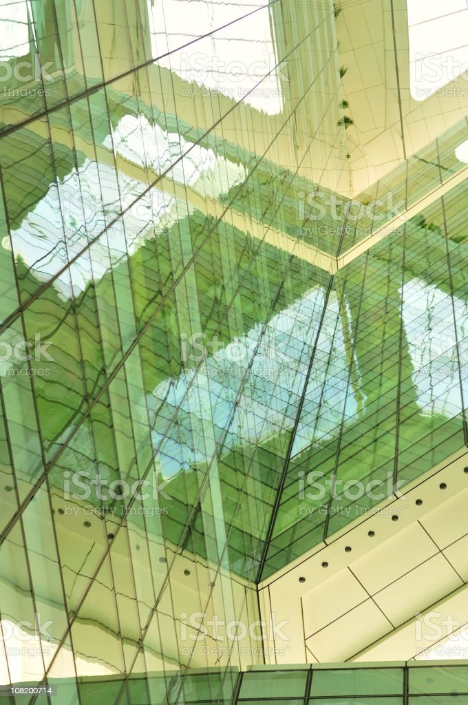Reflection of Building in Glass royalty-free stock photo