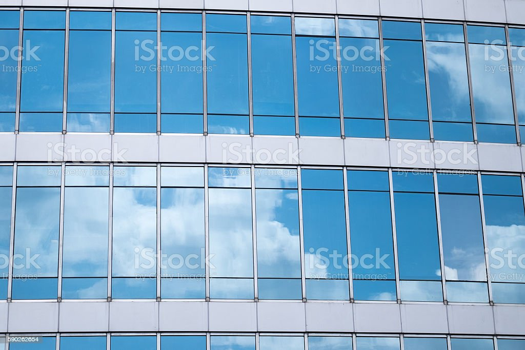 Reflection of clouds stock photo