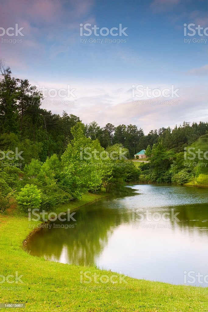 Reflection of Early Spring royalty-free stock photo