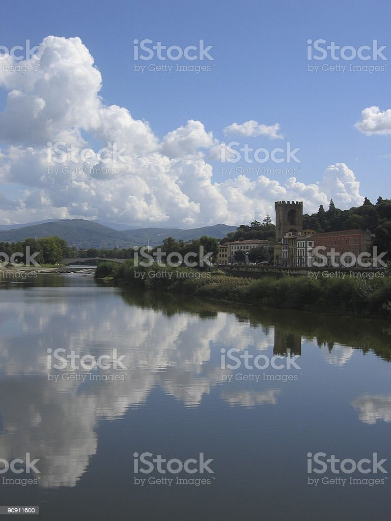 Reflection of Florence, Italy stock photo