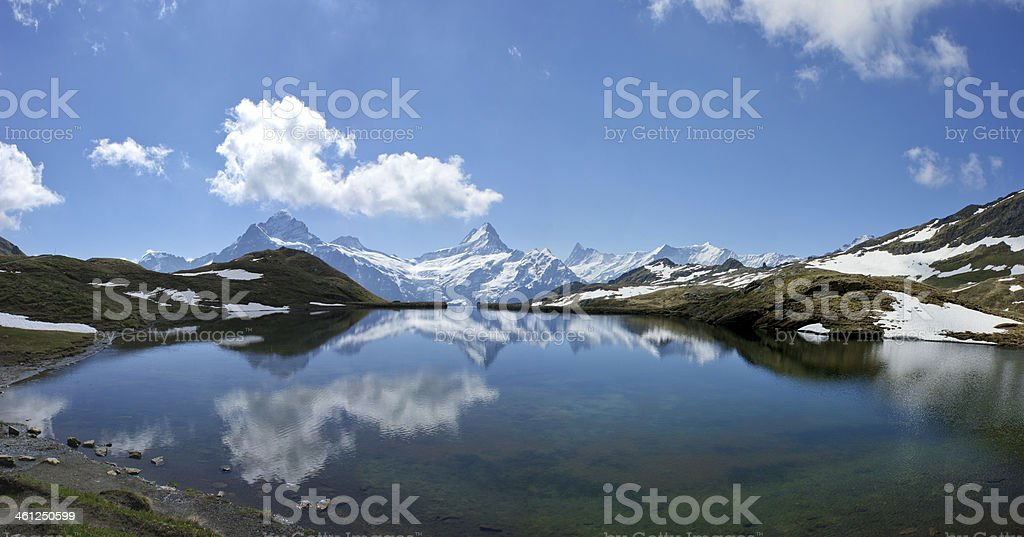 Reflection of Jungfrau in the Swiss Alps royalty-free stock photo