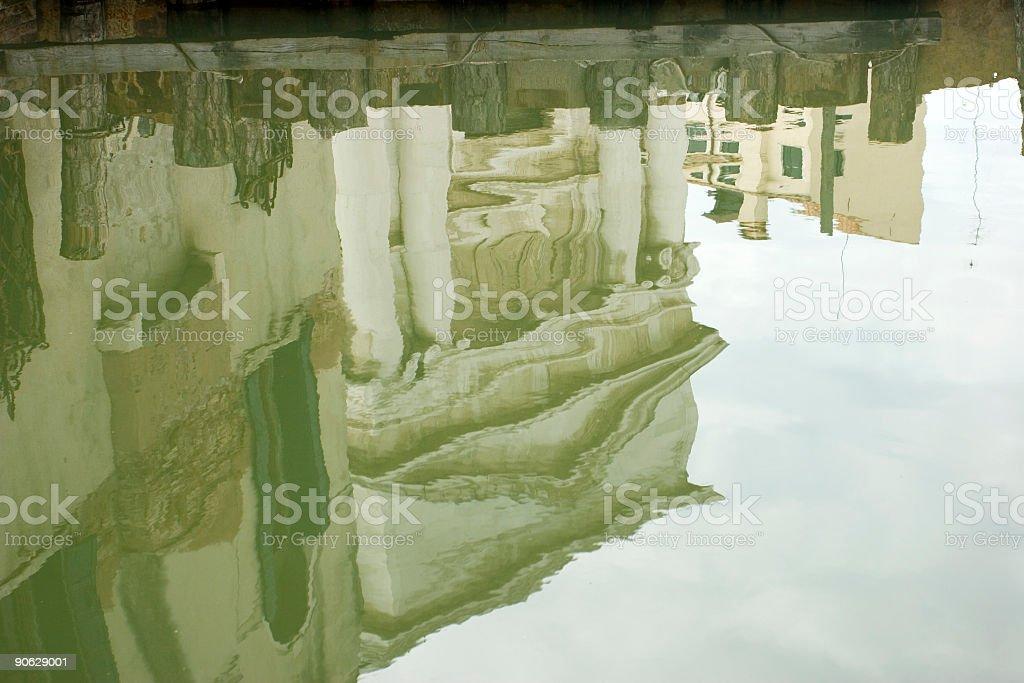 Reflection of La Maddalena (Venice) stock photo