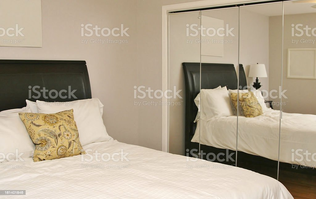Reflection of modern bedroom royalty-free stock photo