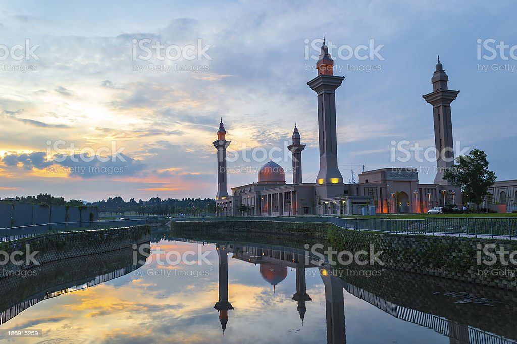 Reflection of Mosque royalty-free stock photo