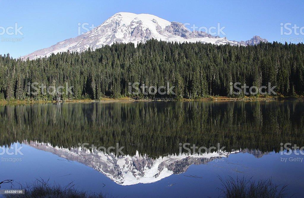 Riflesso del monte Rainier foto stock royalty-free