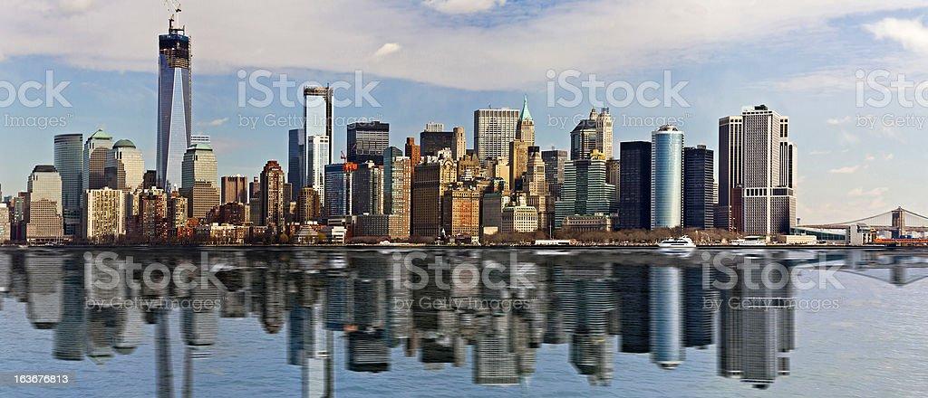 Reflection of New York City royalty-free stock photo