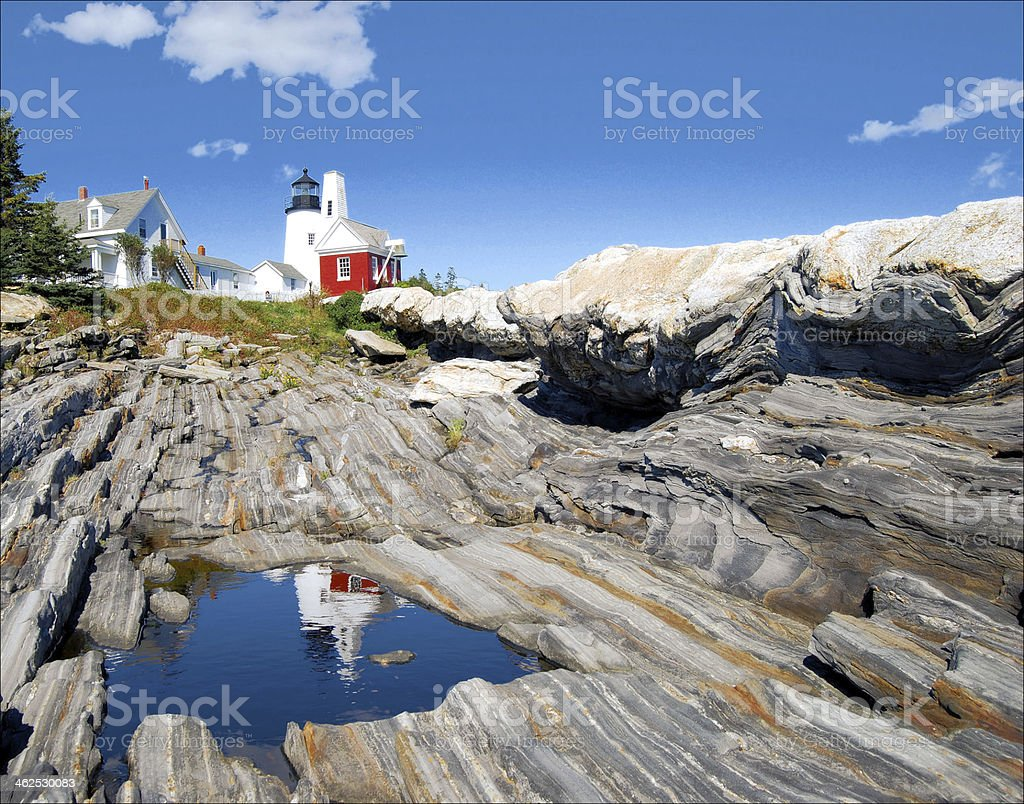 Reflection of Pemaquid stock photo