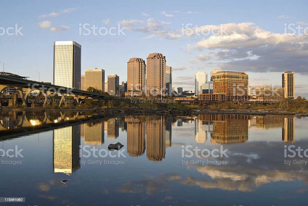 Reflection of Richmond stock photo
