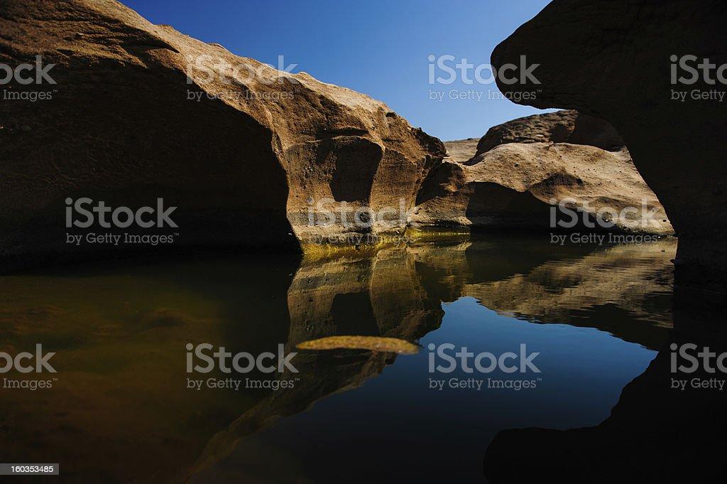 Reflection of rocks royalty-free stock photo