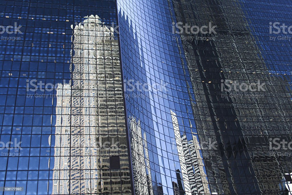 Reflection of Skyscrapers in Office Building Windows royalty-free stock photo