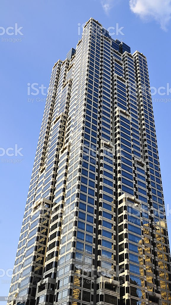 reflection of the sky and buildings in a skyscraper, atlanta royalty-free stock photo
