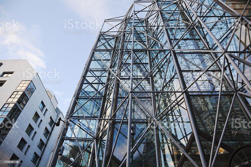 Reflection on a facade. royalty-free stock photo