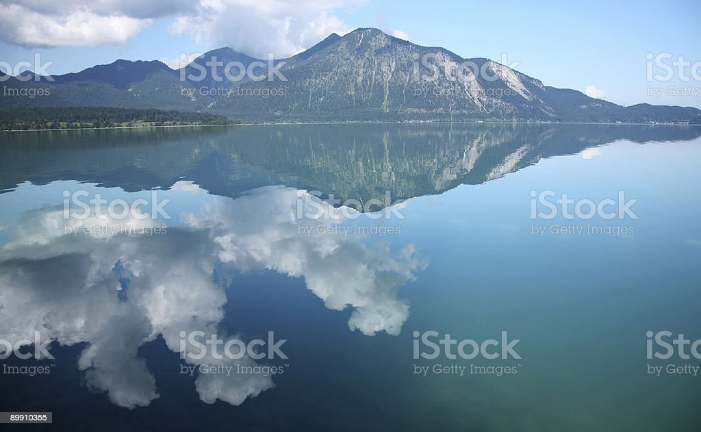 Reflection on a mountain lake royalty-free stock photo