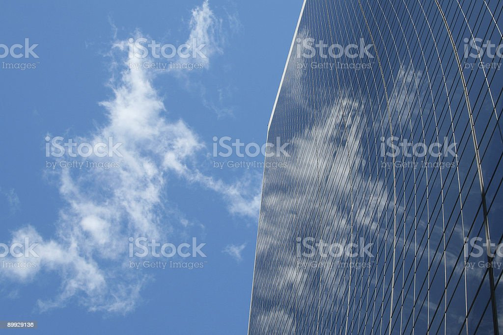 reflection on building royalty-free stock photo