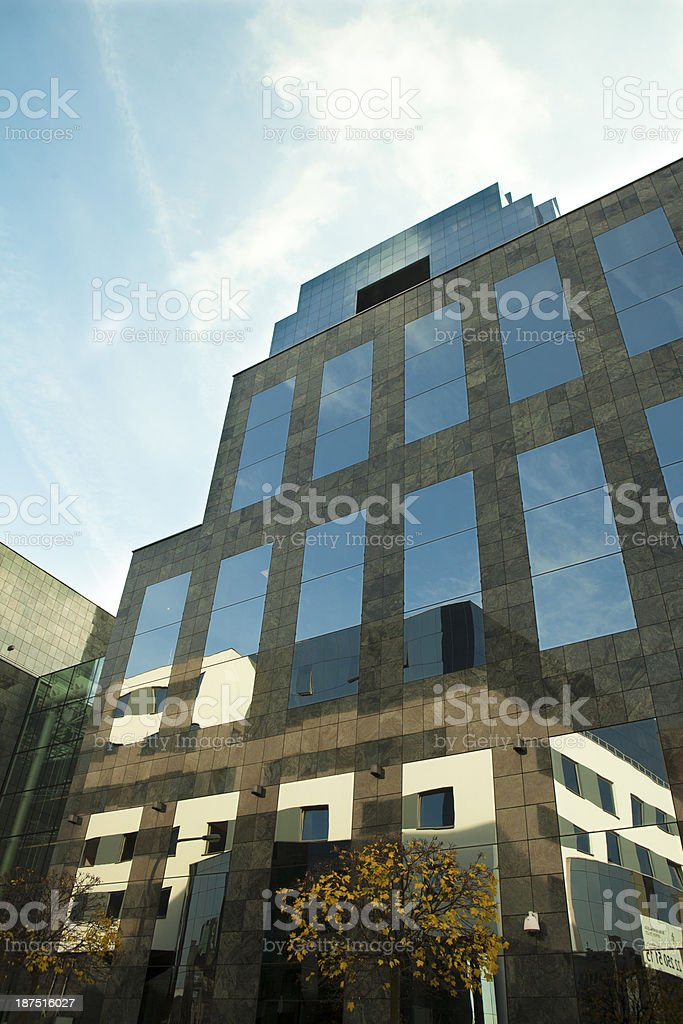 Reflection on facade stock photo