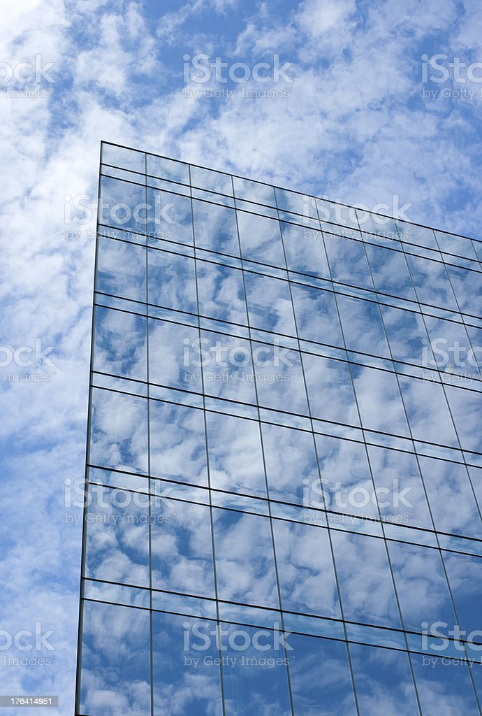 Reflection on Glass Skyscraper royalty-free stock photo