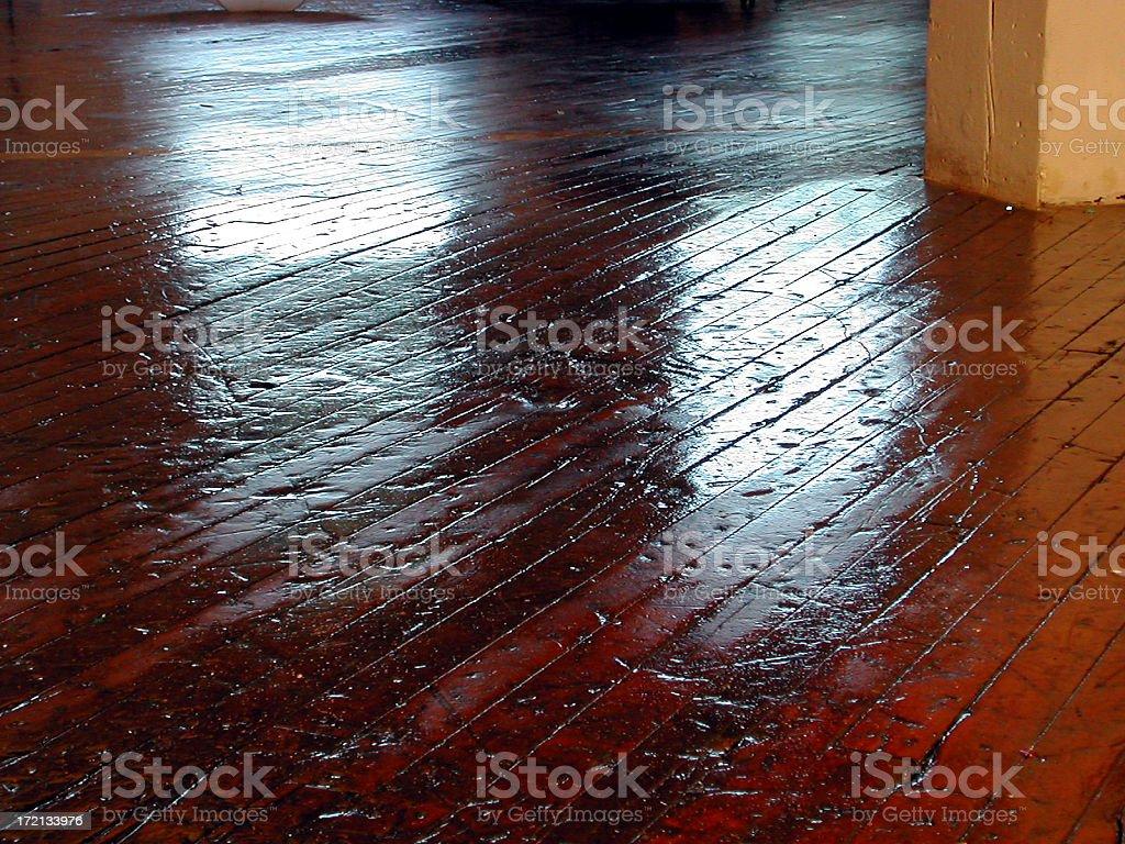 reflection on hardwood floor royalty-free stock photo