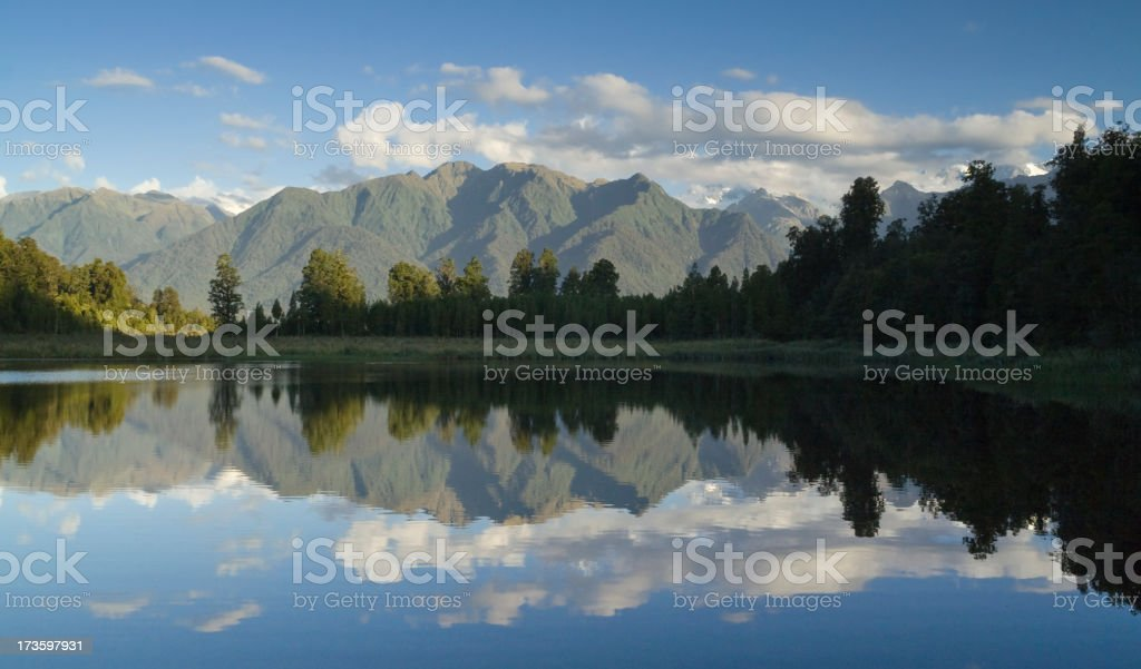 Reflection on Lake Matheson royalty-free stock photo