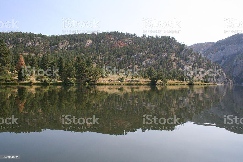 reflection on the Missouri River stock photo