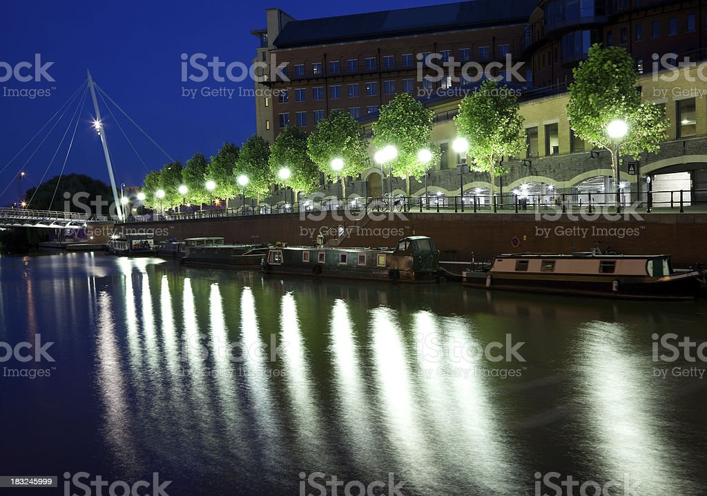 Reflection on the  river royalty-free stock photo