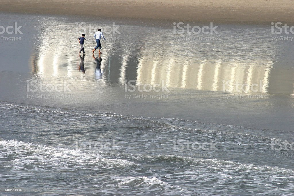 Reflection on the water royalty-free stock photo