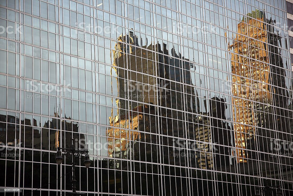 NYC Reflection royalty-free stock photo