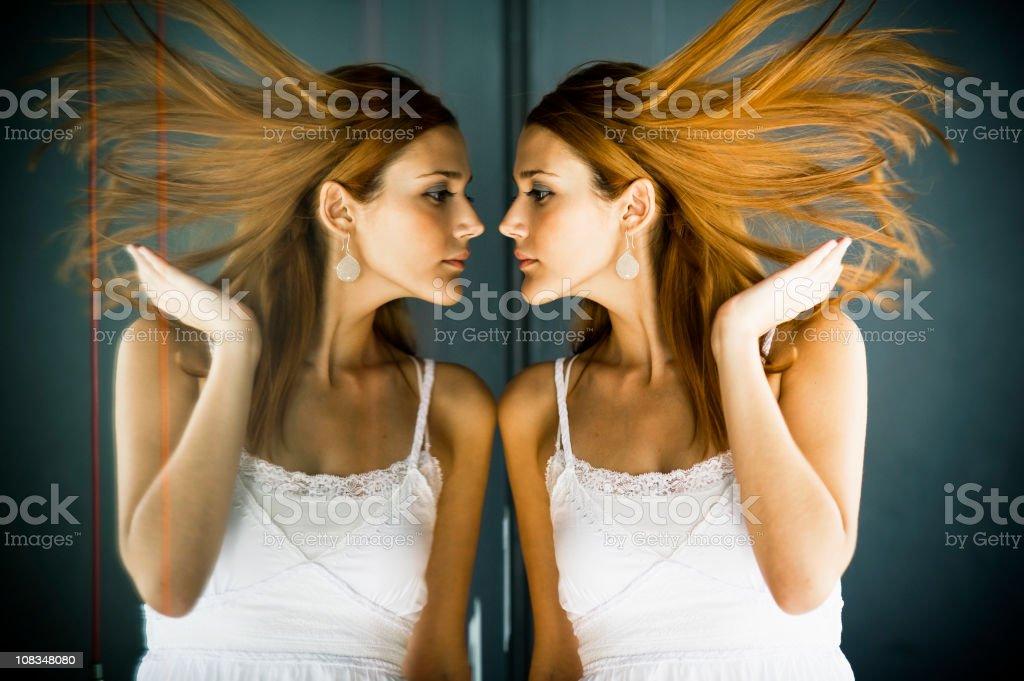 Reflections And Femininity stock photo