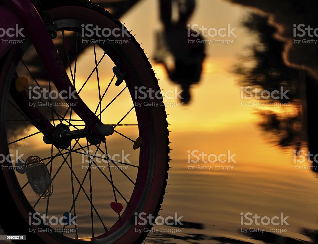 Reflections at sunset royalty-free stock photo