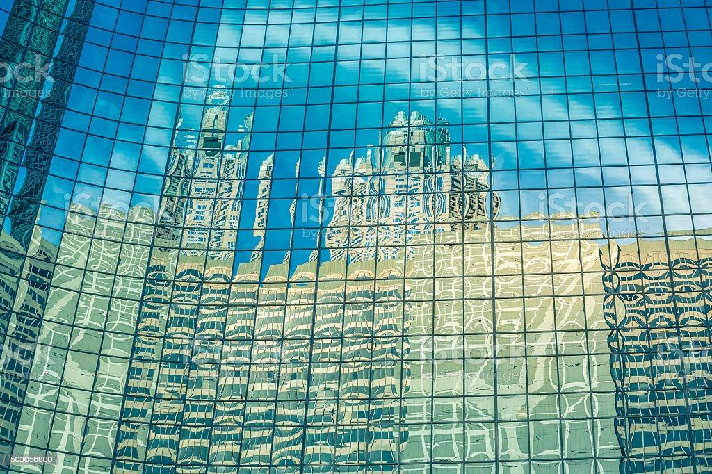 Reflections , Chicago-Illinois stock photo