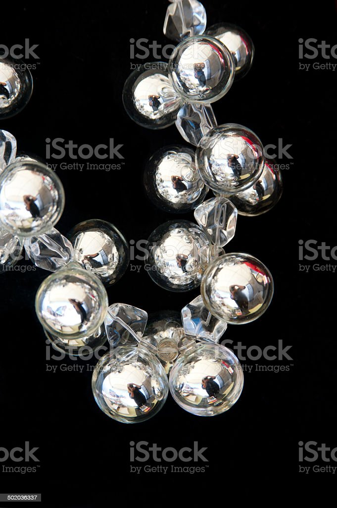 Reflections in a Necklace stock photo