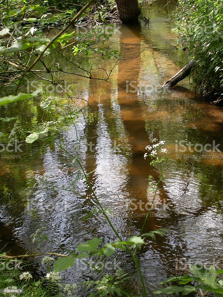 Reflections in a Sandy Stream 01 royalty-free stock photo