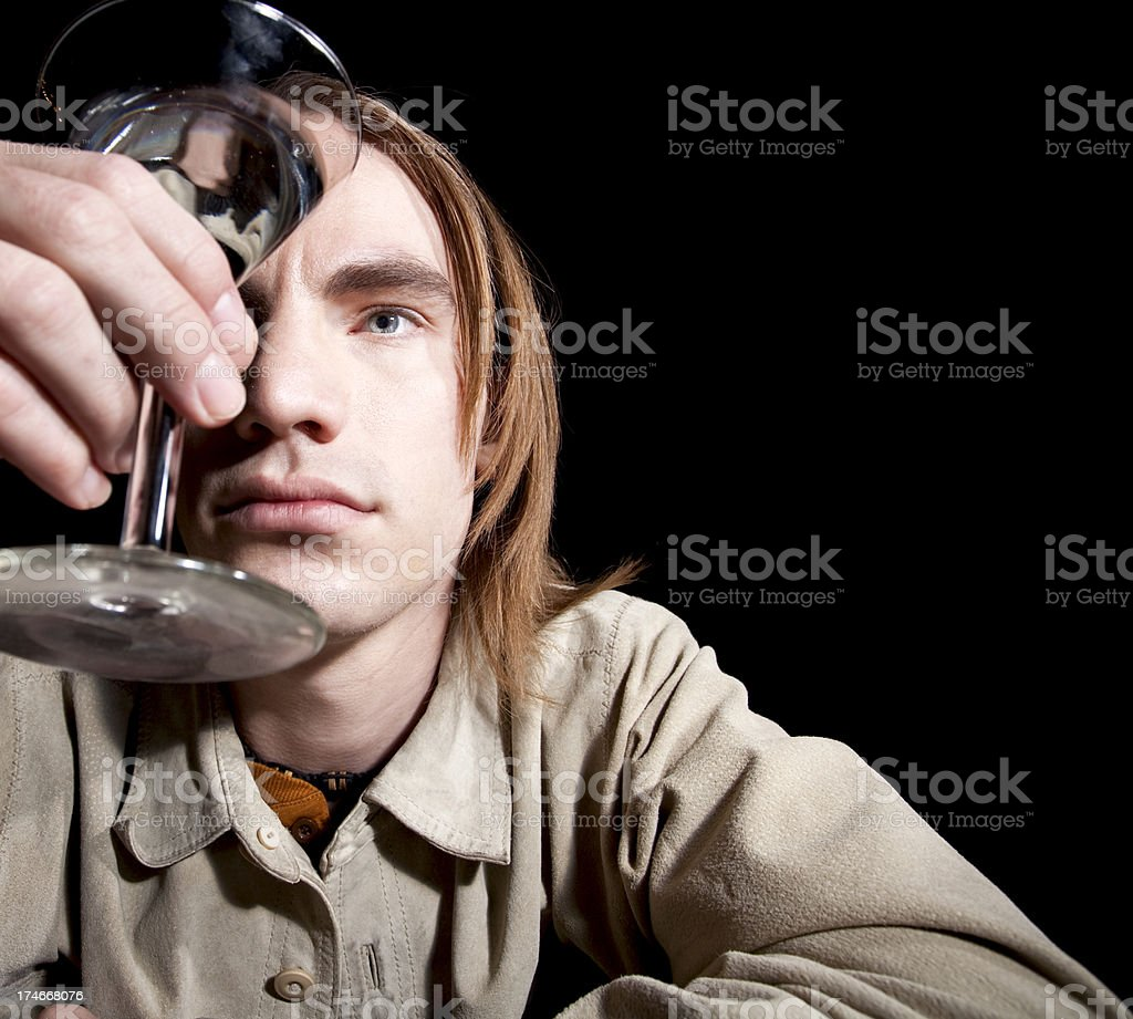 Reflections in Alcohol. stock photo