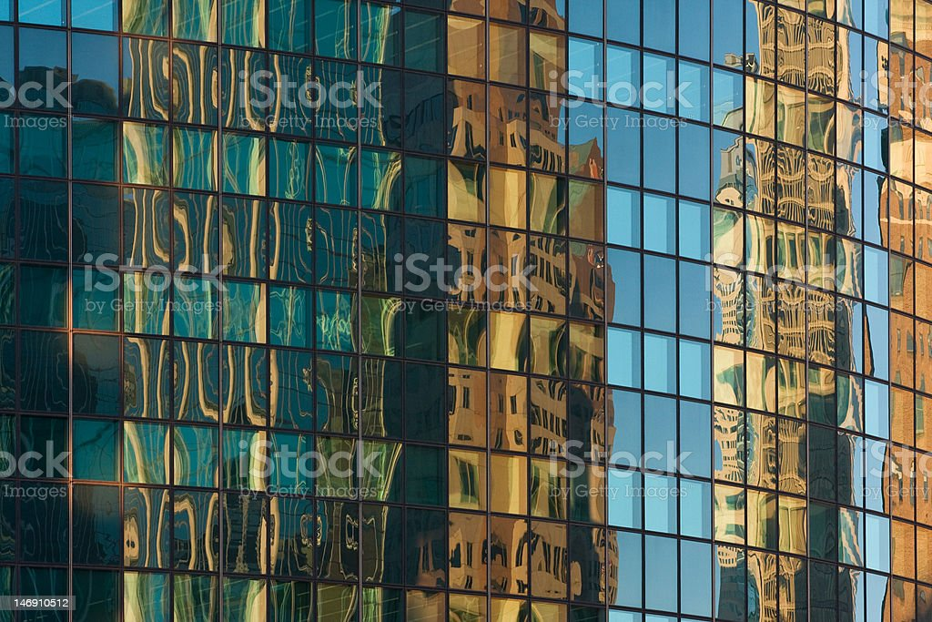 Reflections in an office building stock photo