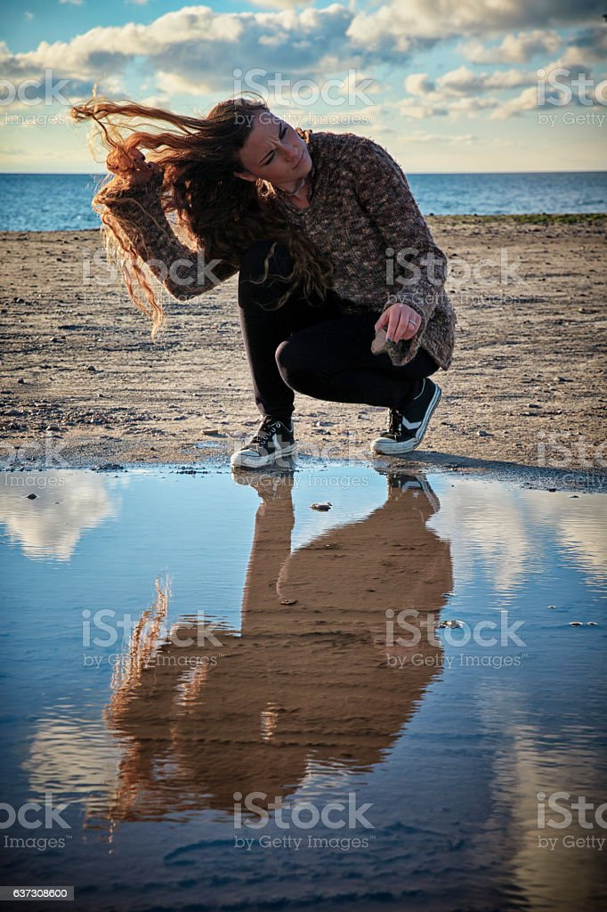 Reflections in Autumn. stock photo