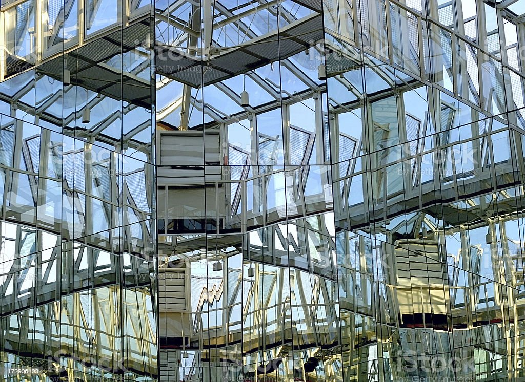 reflections in glass house royalty-free stock photo