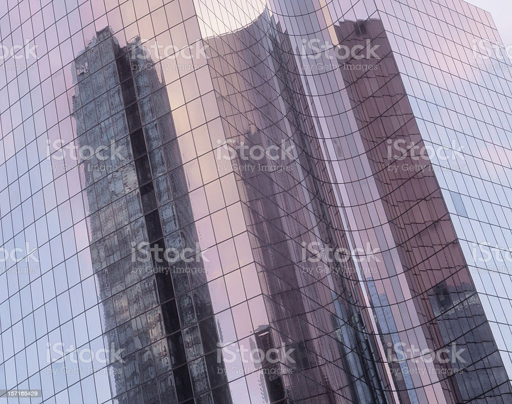 Reflections in office building. royalty-free stock photo