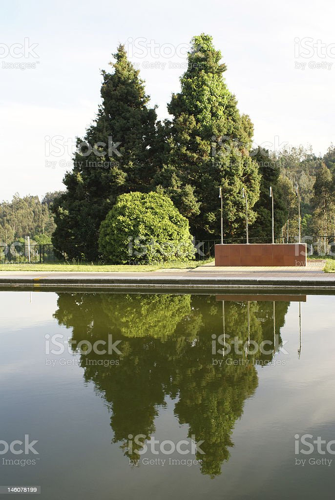 reflections in the water royalty-free stock photo