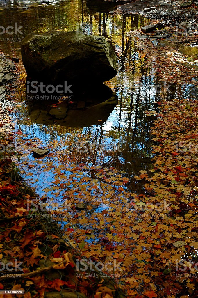 Reflections of a perfect autumn day stock photo