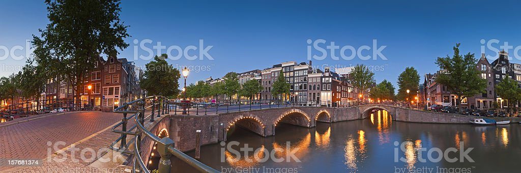 Reflections of Amsterdam, Holland royalty-free stock photo